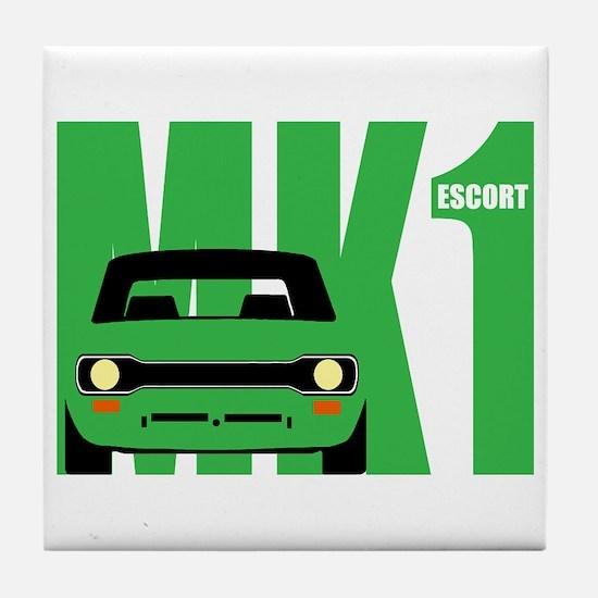 MK1 Escort Classic Cars Tile Coaster
