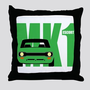 MK1 Escort Classic Cars Throw Pillow