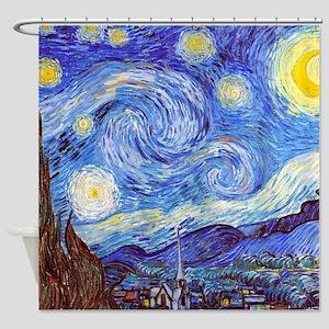 ''the Starry Night' Van Gogh Shower Cu