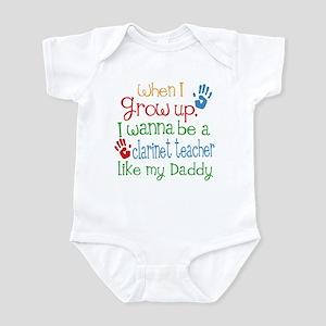 Clarinet Teacher Like Daddy Infant Bodysuit
