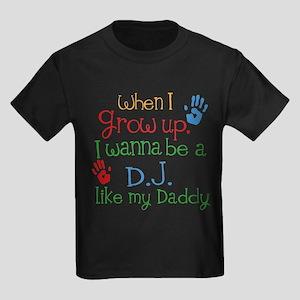 DJ Like Daddy Kids Dark T-Shirt