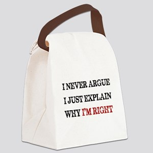 I'M RIGHT Canvas Lunch Bag