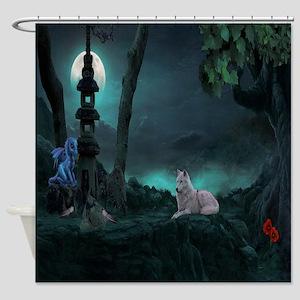 Moonlight Wolf Shower Curtain