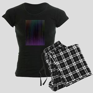 Decorative Colorful Stripes Women's Dark Pajamas
