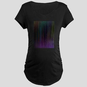Decorative Colorful Stripes Maternity T-Shirt