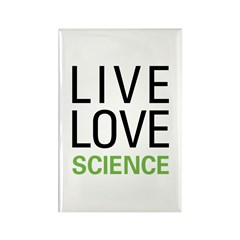 Live Love Science Rectangle Magnet (10 pack)