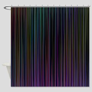 Decorative Colorful Stripes Shower Curtain
