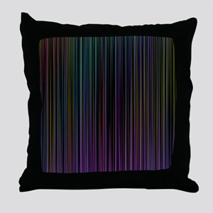 Decorative Colorful Stripes Throw Pillow