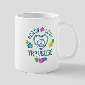 Peace Love Traveling Mug