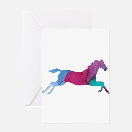 Galloping Horse Greeting Cards