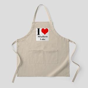 I heart Mullett Lake BBQ Apron