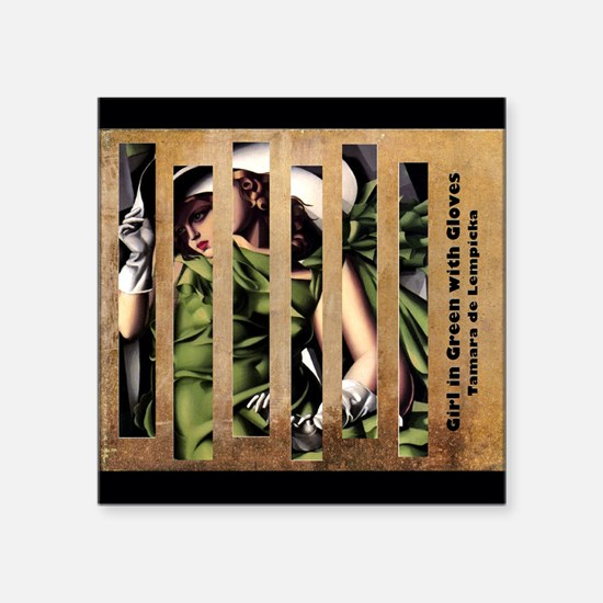 Girl in Green with Gloves - Lempicka Sticker