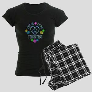 Peace Love Theatre Women's Dark Pajamas