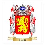 Rodas Square Car Magnet 3