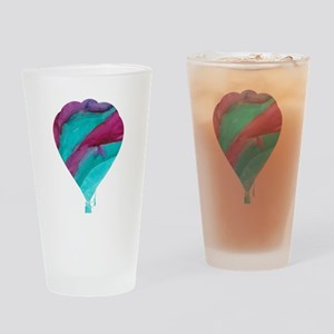 Colorful Hot Air Balloon Drinking Glass