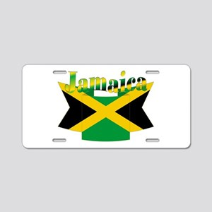 Jamaican flag ribbon Aluminum License Plate