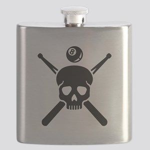 Billiards skull Flask