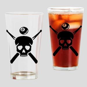 Billiards skull Drinking Glass