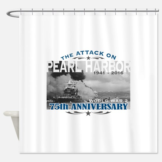 Pearl Harbor Attack Shower Curtain
