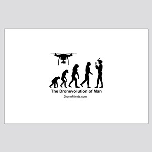 The Dronevolution of Man Poster Art