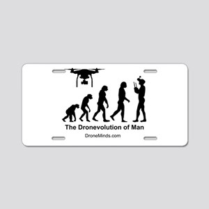 The Dronevolution of Man Aluminum License Plate
