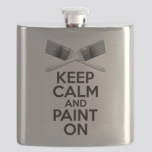 Keep Calm and Paint On Flask