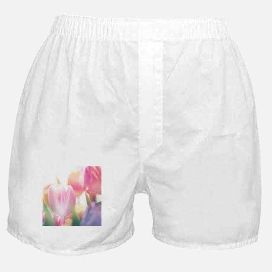 Beautiful Tulips Boxer Shorts