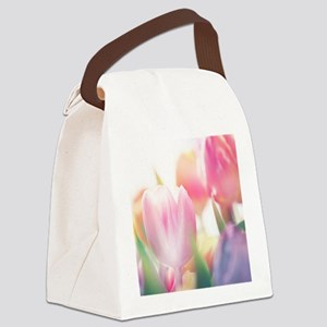 Beautiful Tulips Canvas Lunch Bag
