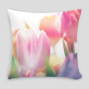 Beautiful Tulips Everyday Pillow