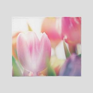 Beautiful Tulips Throw Blanket