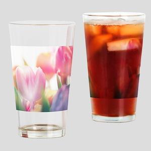 Beautiful Tulips Drinking Glass