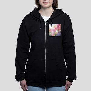 Beautiful Tulips Women's Zip Hoodie