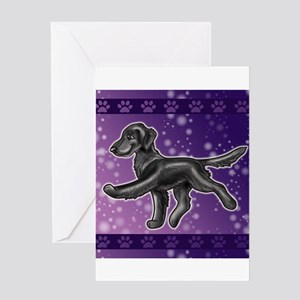 Flat Coated Retriever Night Sky Greeting Cards