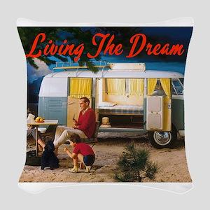 Living the Dream Woven Throw Pillow