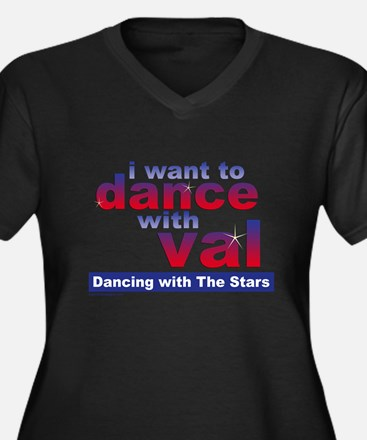 Val Dwts Women's Scoop Neck Dark Plus Size T-S