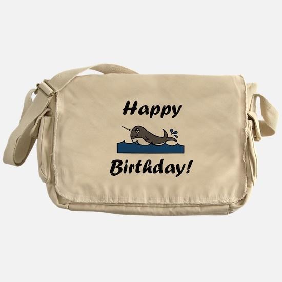 Birthday Narwhal Messenger Bag