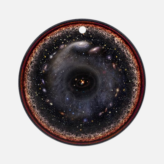 The Observable Universe Round Ornament