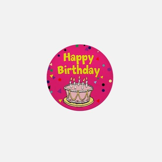 Birthday, Happy Birthday Mini Button (100 pack)
