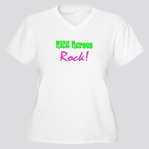 NICU Nurses Rock! Women's Plus Size V-Neck T-Shirt