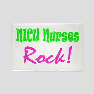 NICU Nurses Rock! Rectangle Magnet