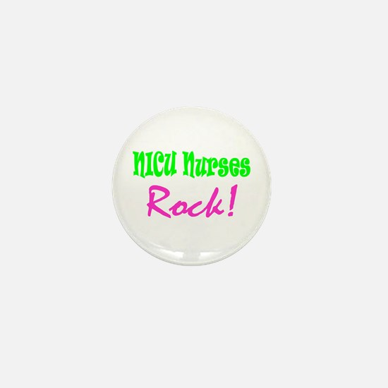 NICU Nurses Rock! Mini Button