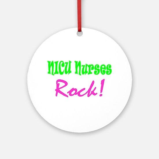 NICU Nurses Rock! Ornament (Round)
