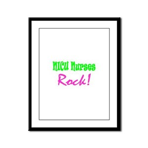 NICU Nurses Rock! Framed Panel Print