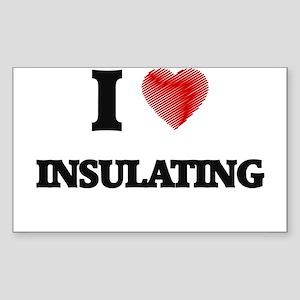 I Love Insulating Sticker