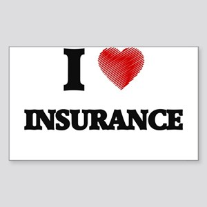 I Love Insurance Sticker