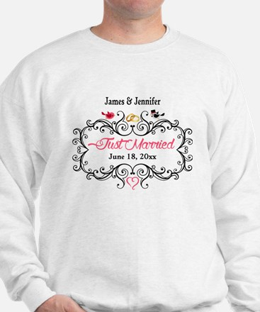 Just Married Custom Sweatshirt
