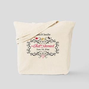 Just Married Custom Tote Bag