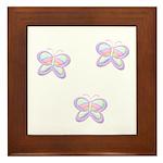 Butterfly Trio Framed Tile