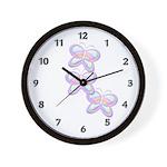 Butterfly Trio Wall Clock