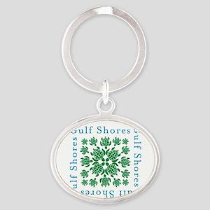 Gulf Shores turtle kaleidoscope- Oval Keychain